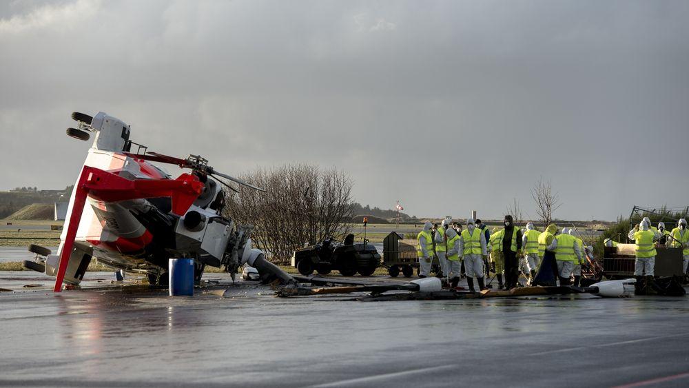 AW101-helikopteret veltet under bakkekjøring av motorene etter en kompressorvask 24. november 2017. Nå flyr redningshelikopteret igjen.