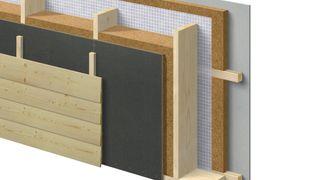 Optimeras nye veggelementer er fylt med trefiber istedenfor mineralull.