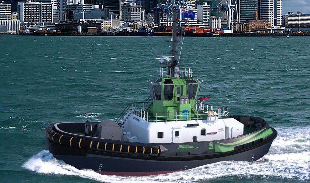 Damens elektriske taubåt av type RSD-E TUG 2513 skal brukes i havna i Auckland, New Zealand. Det blir verdens første helelektriske taubåt.