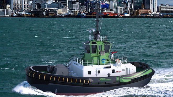 Her er verdens første helelektriske taubåt: Ikke bra nok for Norge