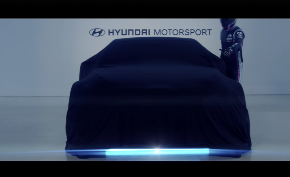 Hyundai Motorsport har en ny villkatt på gang. Foreløpig er dette alt de vil vise.