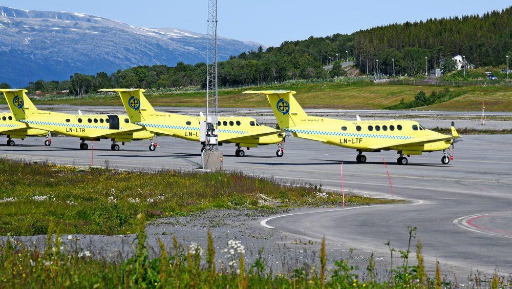 Fly fra Luftambulansetjenesten i Tromsø. Flyene opereres av Babcock Scandinavian AirAmbulance AS.