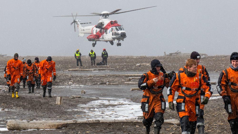 Fredag 8. oktober er det klart for en storstilt redningsøvelse på Svalbard. Bildet er fra MRO-øvelsen i 2019.