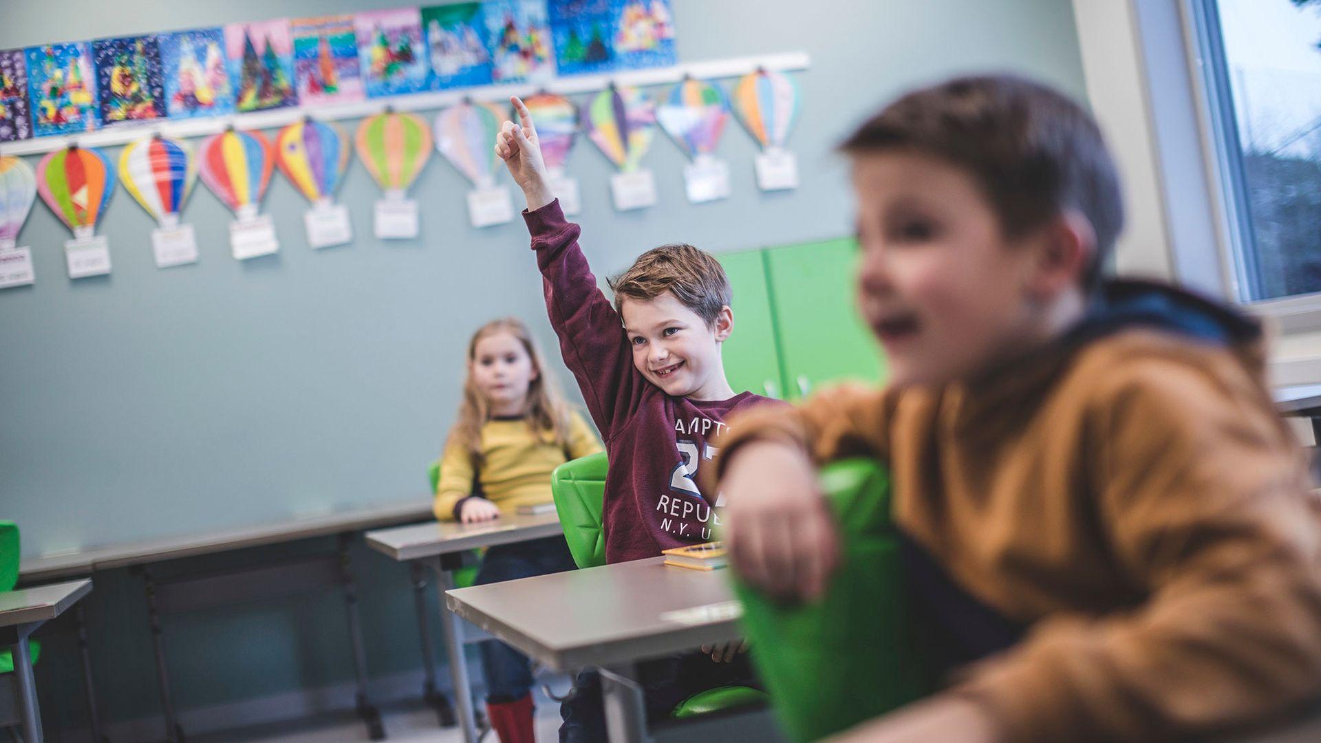 God akustikk i klasserommet er helt avgjørende for å skape et godt læringsmiljø. Foto: Glava