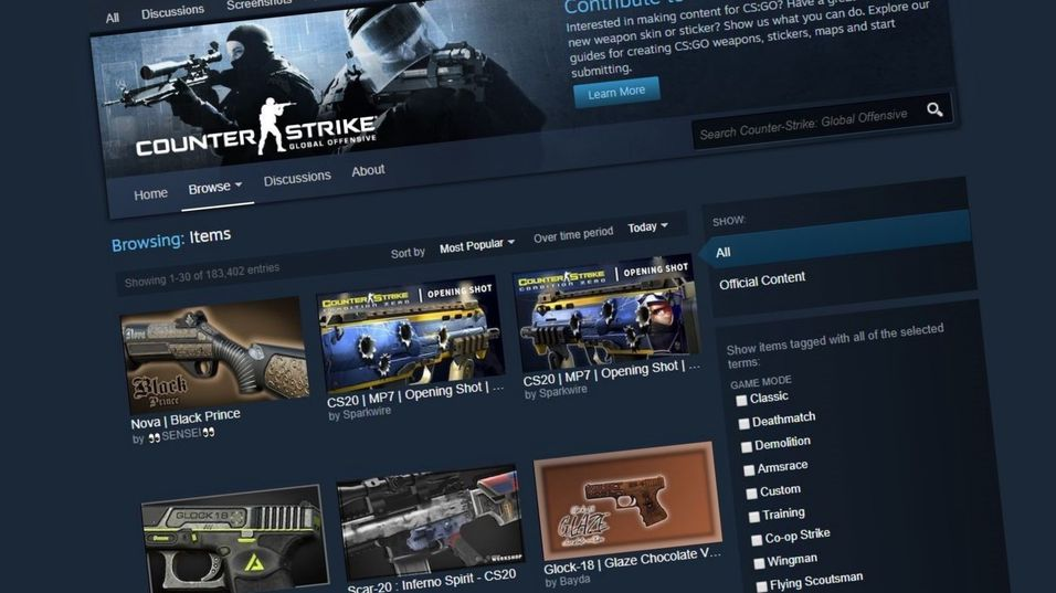 Valve rullet plutselig ut moderering for Steam Workshop