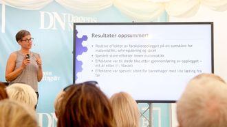 Ingunn Størksen, prosjektleder i Agder-prosjektet, viste til forskningen for å understøtte betydningen av kvalitet i barnehagen.