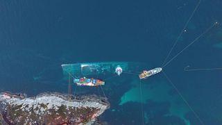 Tre personer er mistenkt etter fregattforliset: Nå er etterforskningen snart over