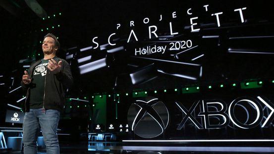 Xbox-sjef Phil Spencer gir fansen et glimt av framtiden med sitt Project Scarlett på pressemøtet Xbox E3 2019 på Microsoft Theater i Los Angeles.