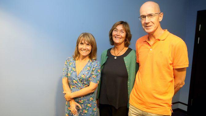 Fra venstre Elise Øksendal, Anne Helgeland og Kristian Emil Kristoffersen snakket alle tre om utenforskap i barnehagen under Arendalsuka.
