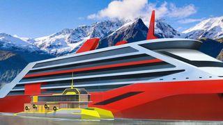 Småskip fullstappet med batterier skal lade store skip til havs og sørge for eksosfri cruisetrafikk