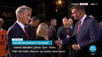 Tone Sofie Aglen skryter av Jonas Gahr Støres sjarm.