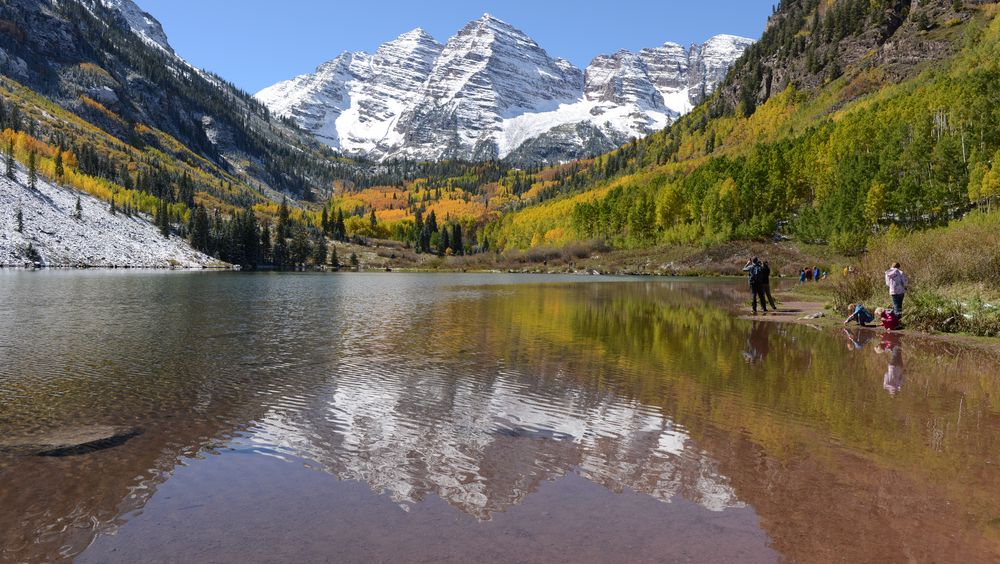 Illustrasjonsbilde av Maroon Lake, Colorado, USA.