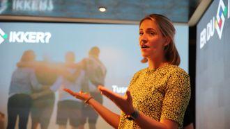 Cathrine Singstad i Sopra Steria er prosjektleder for «Er du sikker?». På Arendalsuka presenterte hun prosjektet sammen med samarbeidspartner Torgeir Waterhouse, direktør internett og nye medier i IKT Norge.