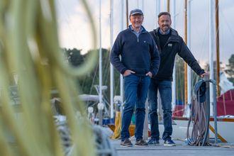 """I 16 år har ingeniørene Knut E. Kismul (t.v.) og Terje Skevik brukt omtrent all ledig tid på """"Ambition""""."""