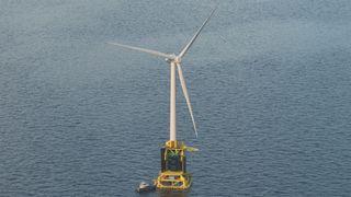 Havvindturbinen har et oppdrettsanlegg plassert i foten: – Vil gi enorme muligheter