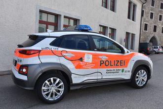 Ingen skal være i tvil om at politiet i St. Gallen kjører elektrisk.