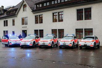 Politiet i sveitsiske St. Gallen har valgt Hyundai Kona som patruljebiler.