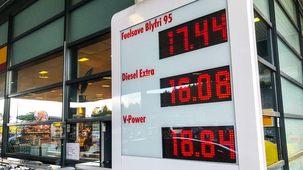 Salget av diesel og bensin har gått ned.