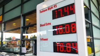 Salget av bensin og drivstoff gikk ned i sommer