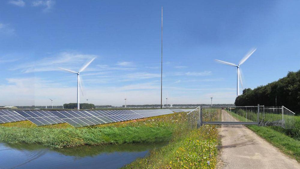 Hybridanlegget skal bestå av solceller, vindmøller og et batterilager.