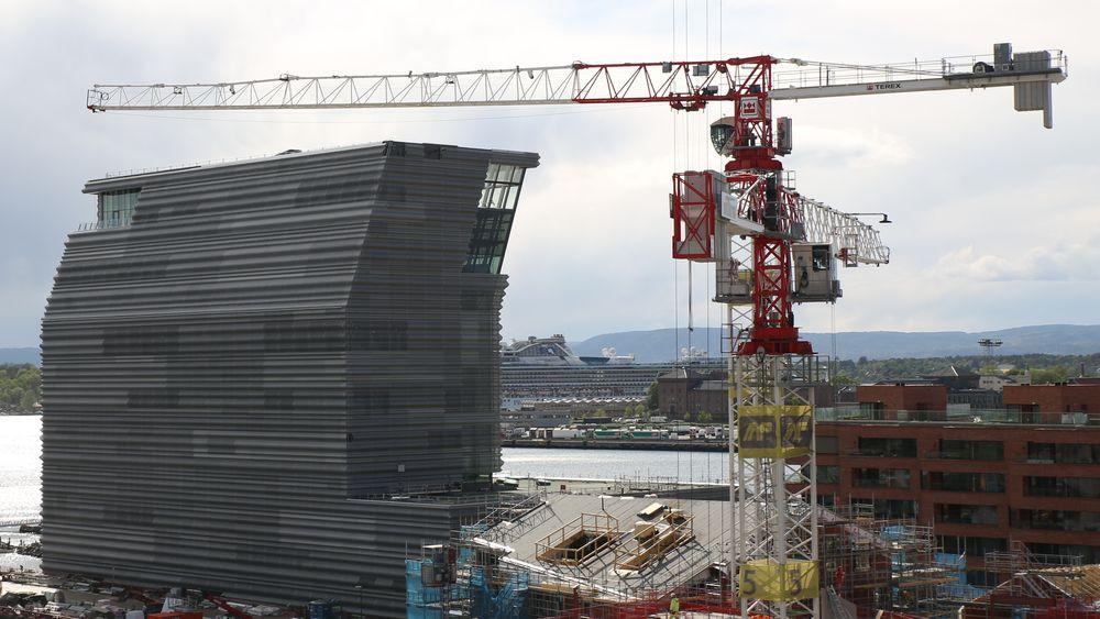 AF-gruppen er involvert i flere store byggeprosjekter, blant annet her i Bjørvika i Oslo.
