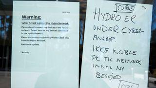 Norsk Hydro varslet alle sine ansatte om ikke å slå på pc-en. (Arkivfoto)