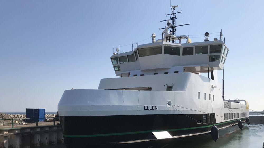 E/F Ellen er satt inn på sambandet Søby på Ærø til Fynshavn på Fyn. Distansen er 22 nautiske mil, tur -retur og går på en lading.