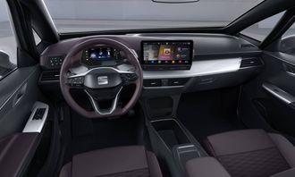 Interiøret i Seats konseptbil el-Born. Mye tyder på at ID.3 vil ha en bortimot identisk løsning.
