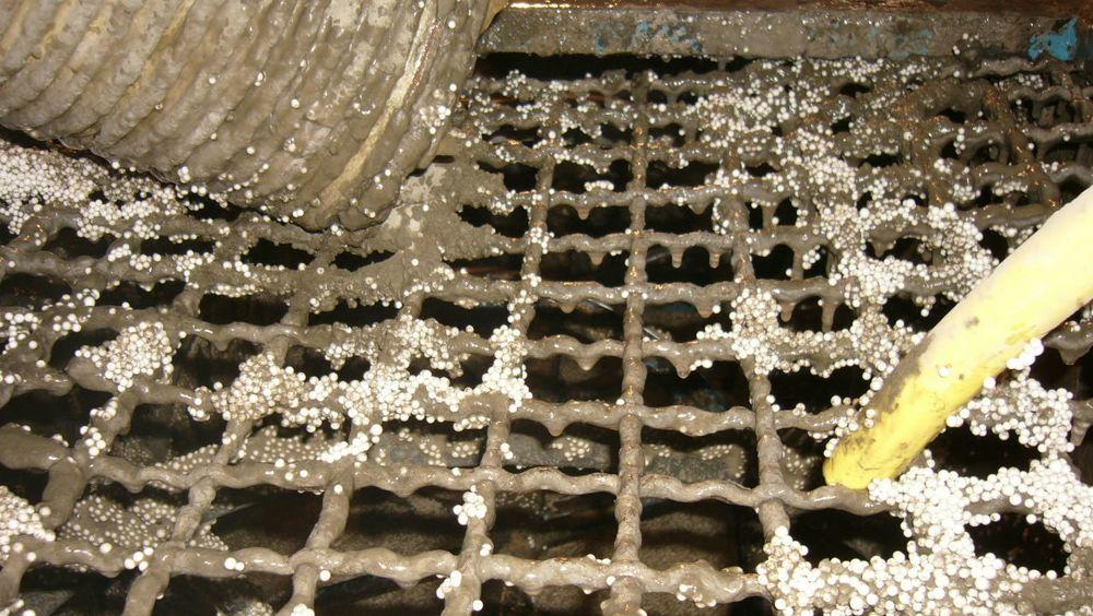 Isoporkulene isolerer og gjør betongen spesielt anvendelig der det er vektutfordringer.