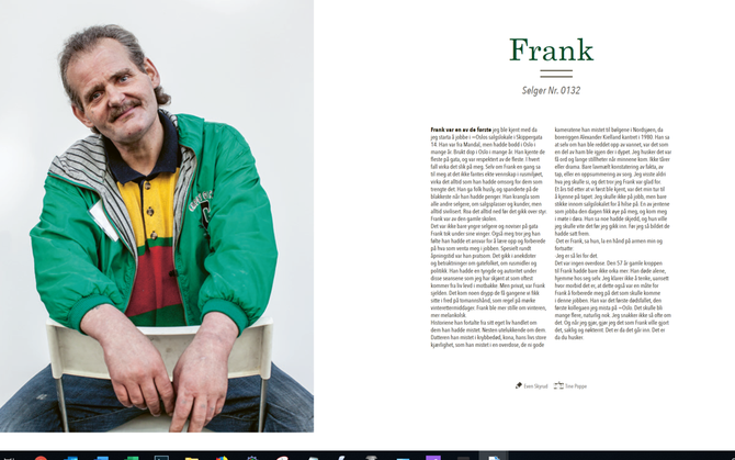 AVDØD: Frank. Selger Nr. 0132. Faksimile av =Oslo for septembers spesialutgave, gjengitt etter avtale.