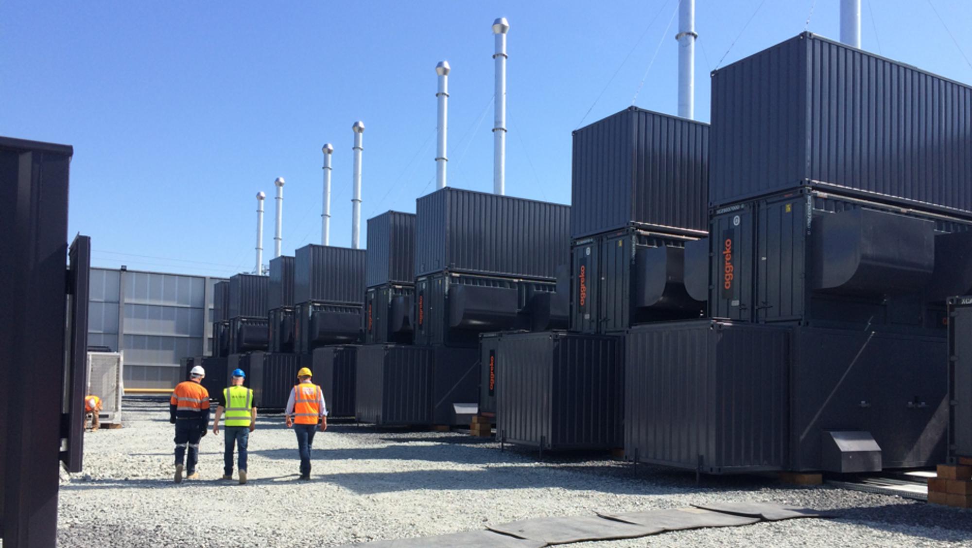 Dublin temporary Power Plant