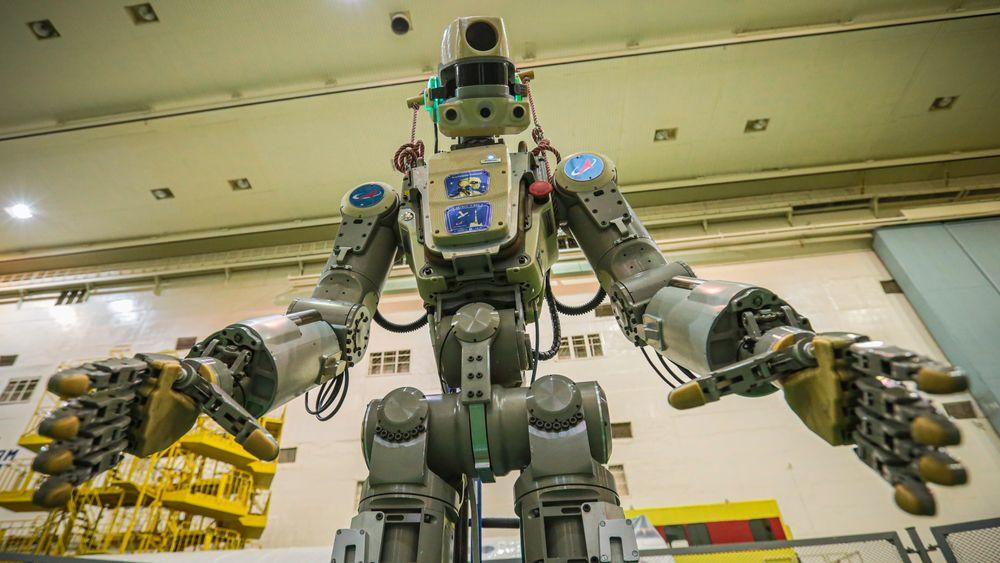 Den russiske roboten Fedor er med sine 180 centimeter og 160 kilo ingen smågutt.