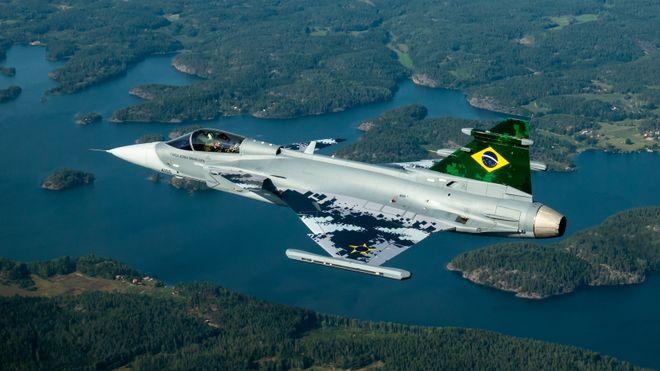 Her er Brasils første Gripen-fly i lufta for første gang