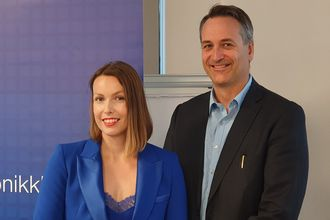 Kommunikasjonssjef Marte Ottemo og administrerende direktør Jan Røsholm i Elektronikkbransjen.