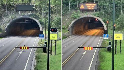 Syv biler kjørte på rødt og inn i en tunnelbrann. Nye lys skal få bilene til å stoppe
