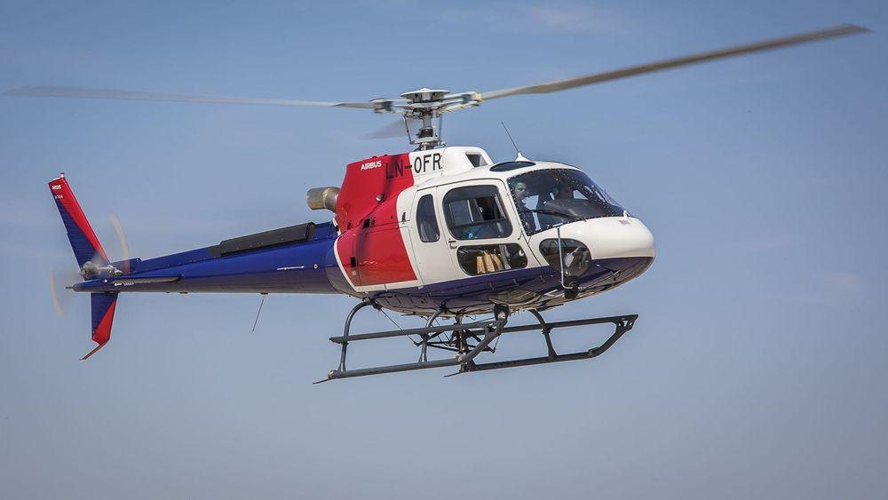 Bilde av helikopteret som Helitrans fikk levert sammen med det som lørdag styrtet i Alta.