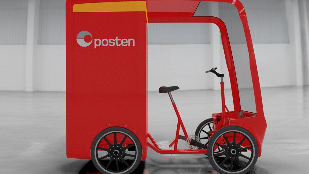Postens nye elektriske varesykler skal ta inntil to kubikkmeter med pakker.