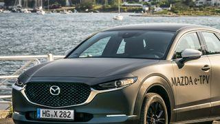 Mazda valgte Oslo da de skulle snikvise sin kommende elbil. I bakgrunnen sees Ulvøya, like sør for hovedstaden.