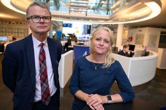 Lars Helle (sjefredaktør) og Elin Stueland (digitalredaktør), Stavanger Aftenblad.