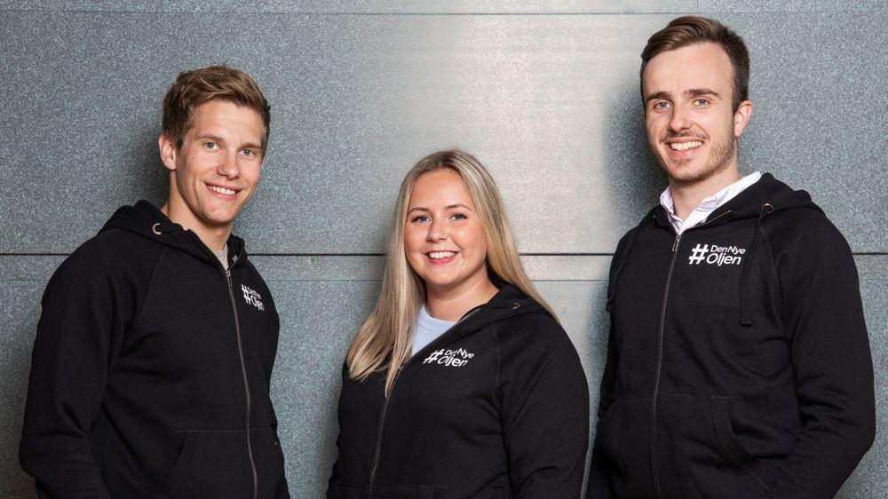 #DenNyeOljen er et (modig) initiativ fra Norsk olje og gass. Årets taleføre representanter er Henrik Hveding, Tuva Kvåle og Andreas Bakkehaug.