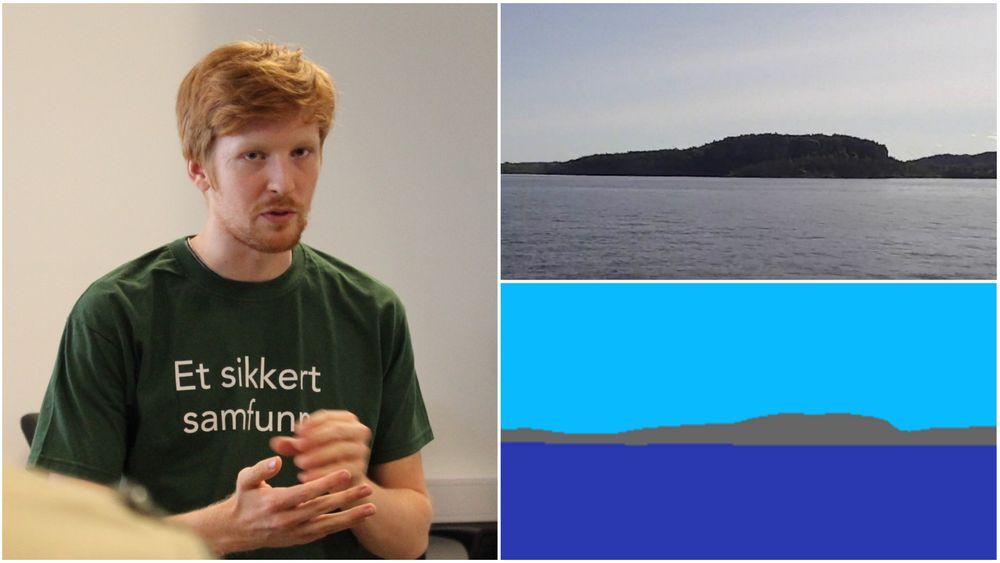 Mathias Leander (23) har sammen med sin medstudent Birk jobbet med å lage en ny måte å navigere på for førerløse skip gjennom sommeren.