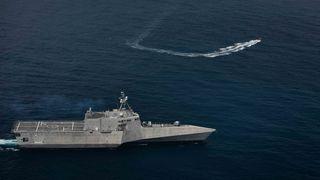 Amerikansk krigskip seiler til Sørøst-Asia med norske missiler på dekk