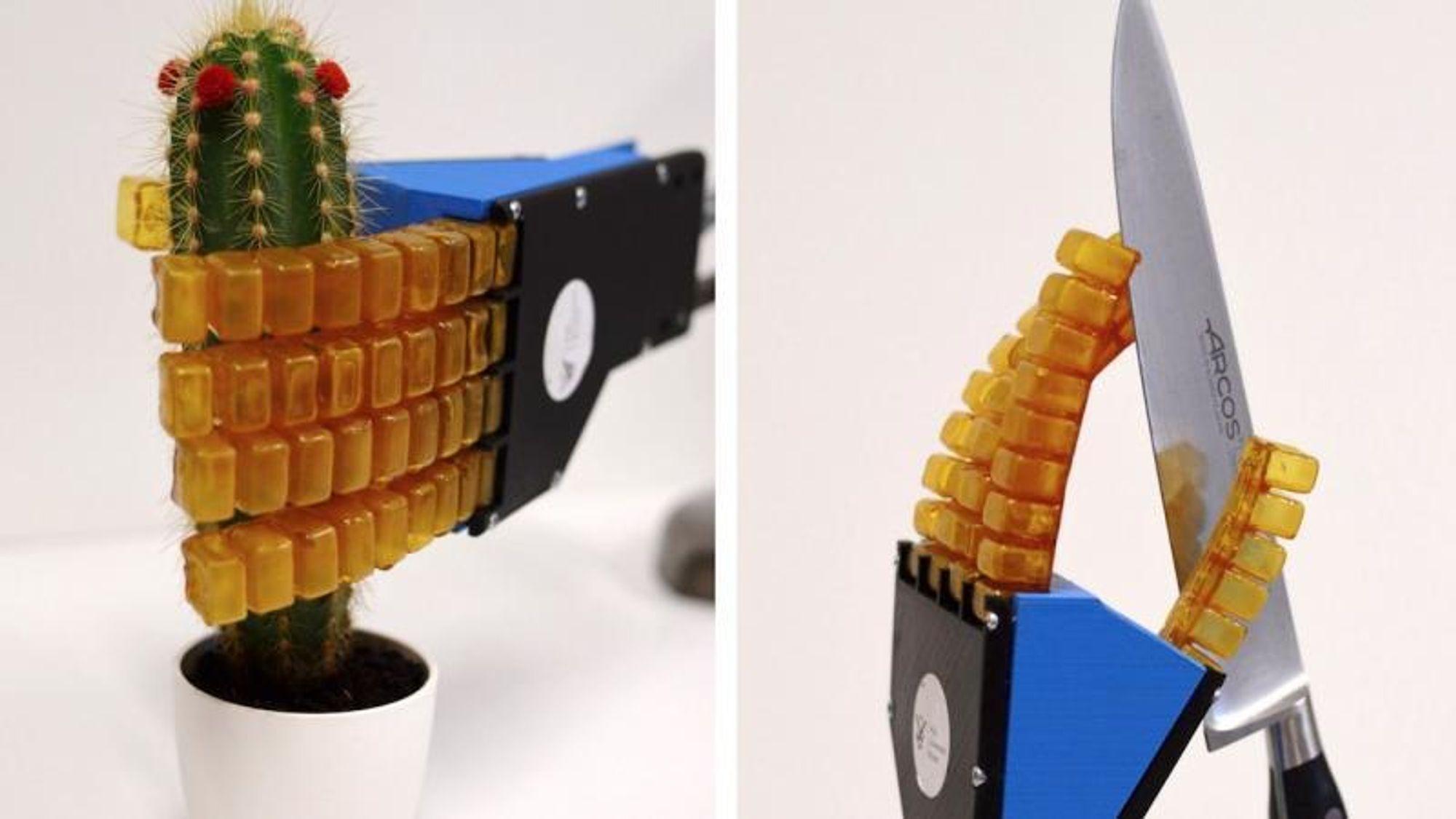 Utvikler myke roboter som reparerer seg selv - selv om de er skåret tvers over