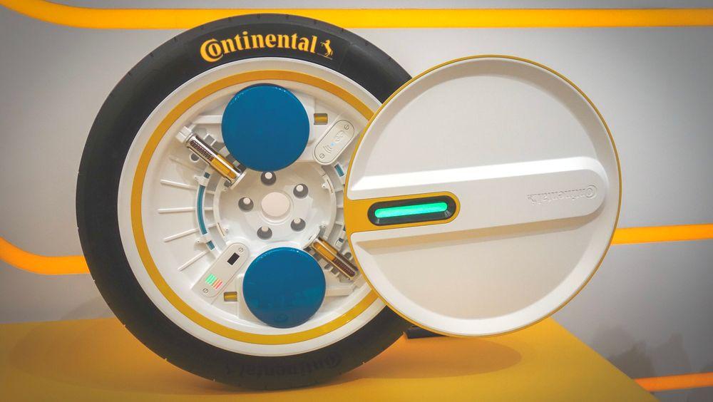 Her er Continental-dekket som tenker sjæl.