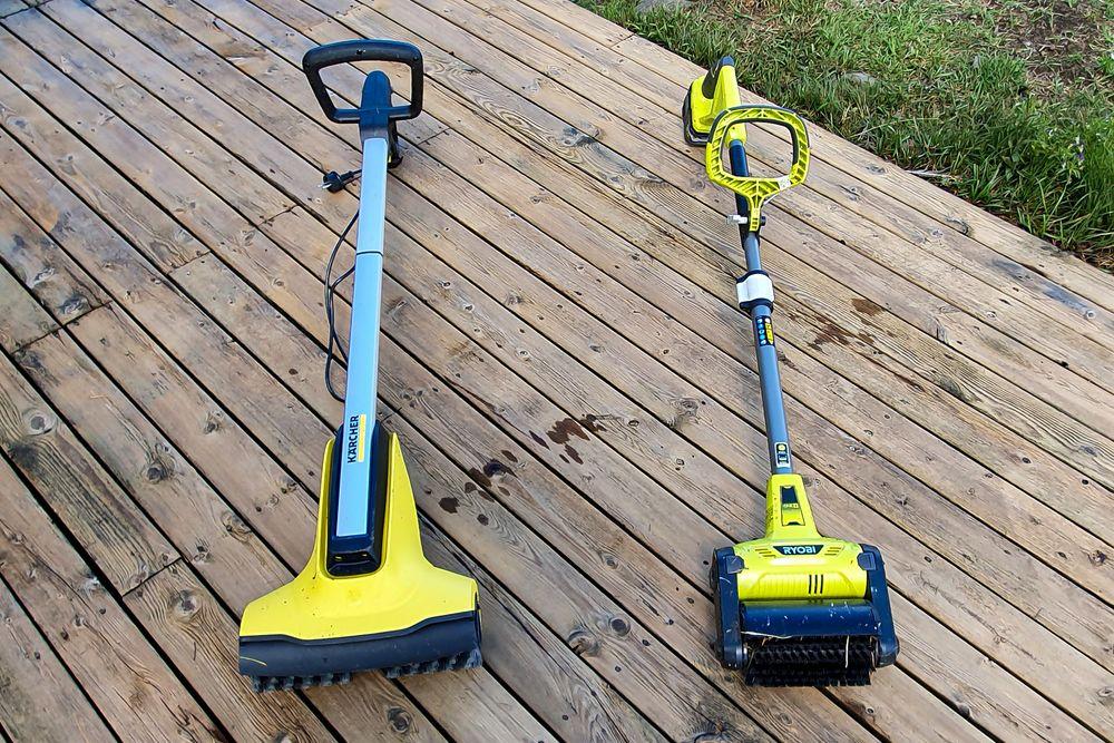 På nett eller batteri: Begge har sine fordeler, men til rengjøring av terasser er det Kärcher som gjør jobben best.