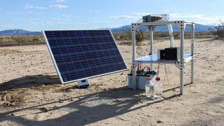 Dette apparatet skal kunne suge vanndamp ut av knusktørr ørkenluft