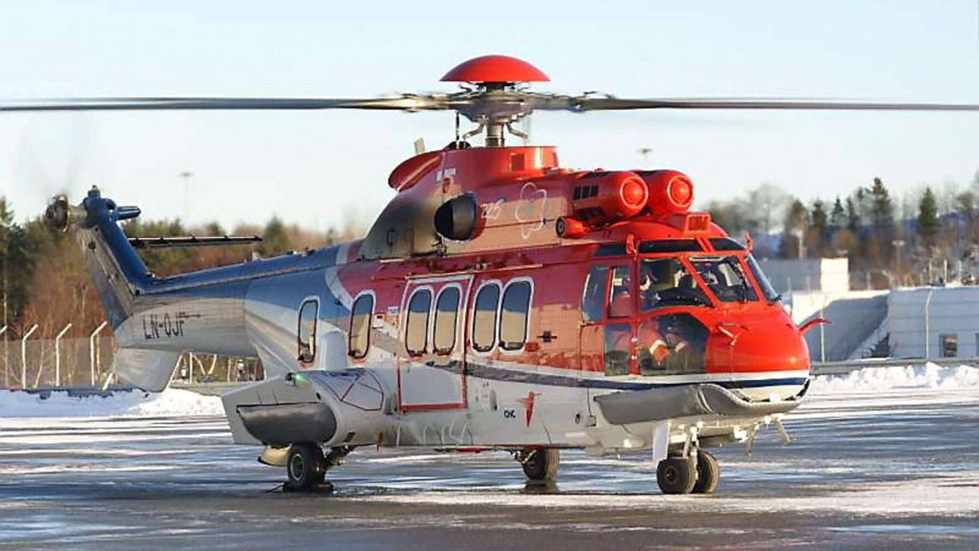 Det var dette helikopteret, et EC225 Super Puma med registreringsnummer LN-OJF, som havarerte 29. april 2016.