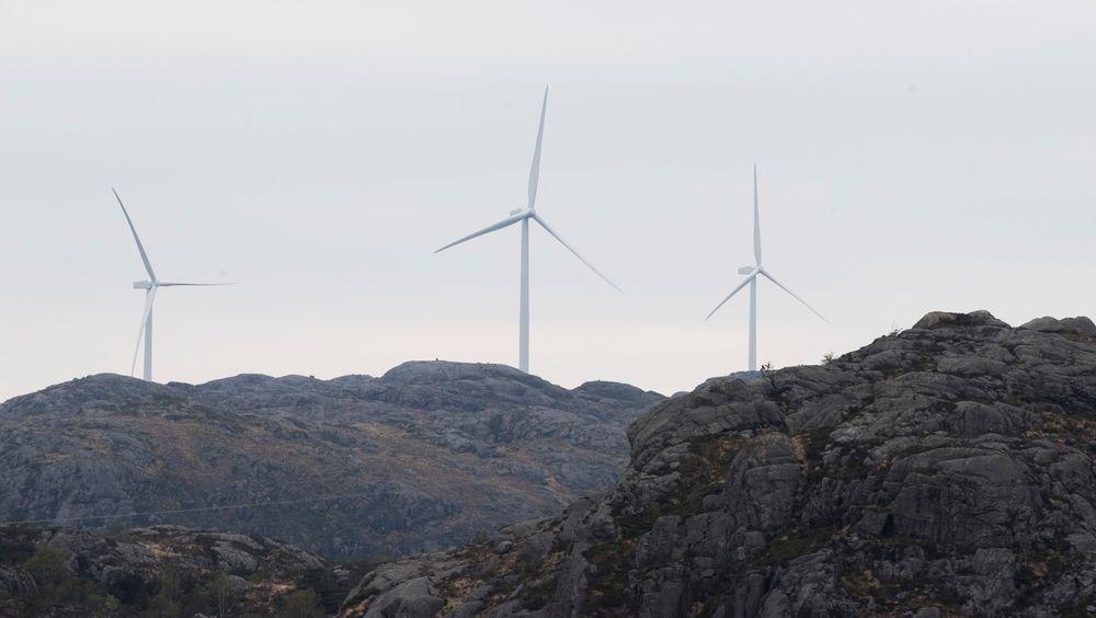 Vindmøller i Eigersund kommune i Rogaland.