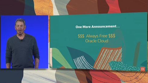 Larry Ellison presenterte Oracle Cloud Always Free i går kveld.