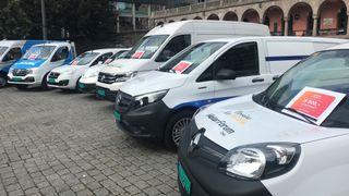 Enova gir bedrifter støtte til elektriske varebiler. Her fra introduksjonen av programmet på Youngstorget i Oslo.